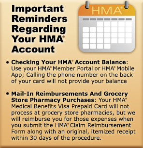 Important HMA Account Reminders
